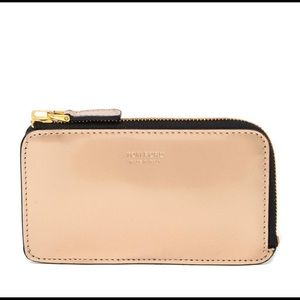 Tom Ford leather zip wallet gold Italian leather